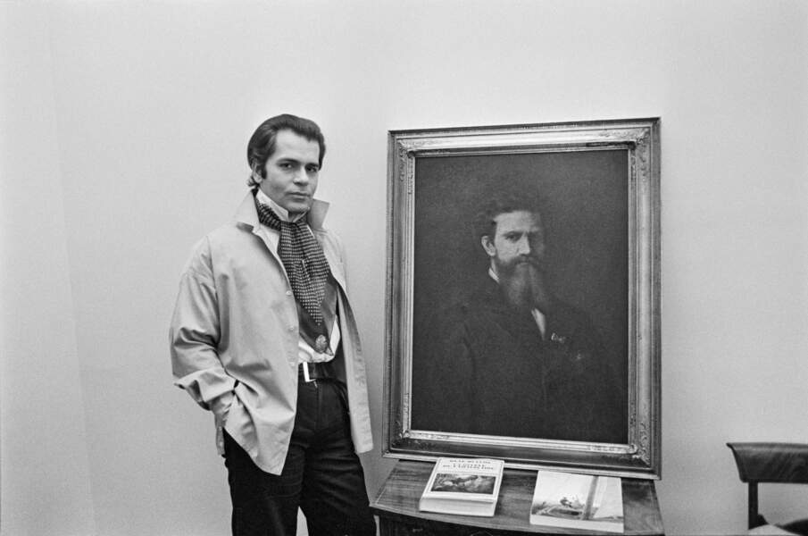 L'évolution physique de Karl Lagerfeld : le créateur en 1976