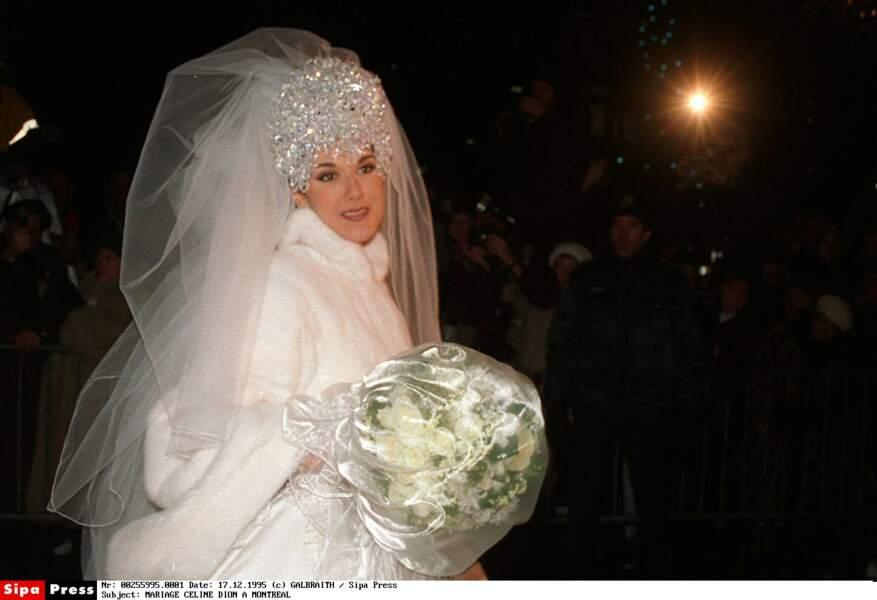 Robes de mariée de stars : ambiance TRÈS Reine des Neiges pour Céline Dion