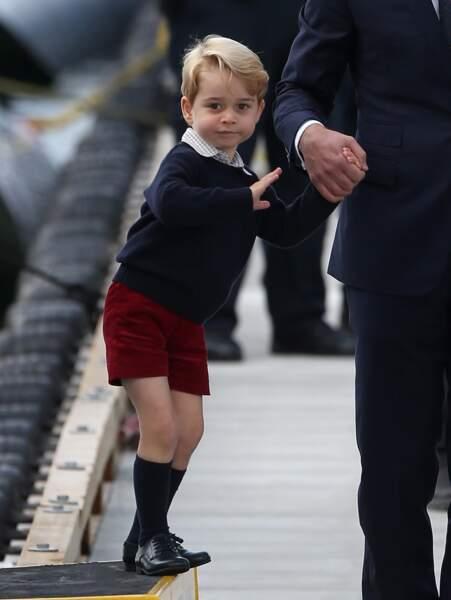 Anniversaire du Prince George - Intrepide, le petit prince a fait la joie des photographes