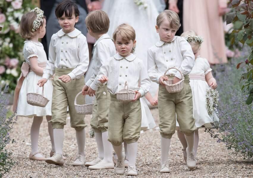 Anniversaire du Prince George - Mai 2017, un petit prince parmi les petits pages au mariage de Pippa Middleton