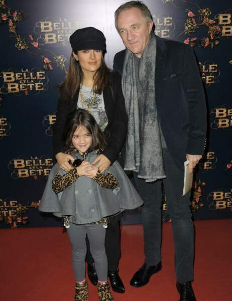 Salma Hayek, François-Henri Pinault et leur fille Valentina