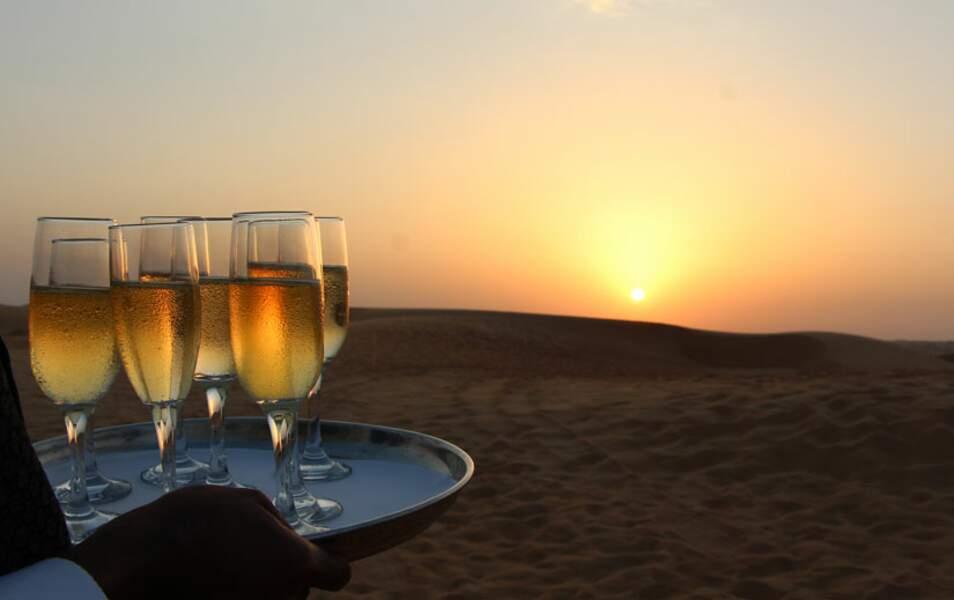 Coucher de soleil & champagne : what else?