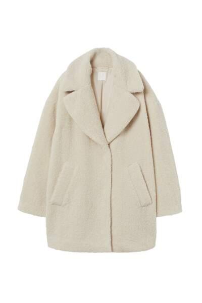 Manteau Teddy Bear, H&M Conscious, 69,99€