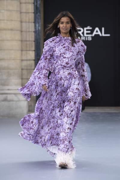 Liya Kebede lors du défilé L'Oréal Paris