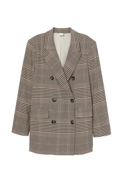 Blazer à double boutonnage, H&M Conscious, 39,99€