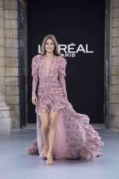Doutzen Kroes, lors du défilé L'Oréal Paris