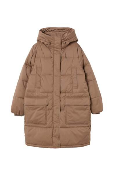 Manteau matelassé à capuche, H&M Conscious, 59,99€