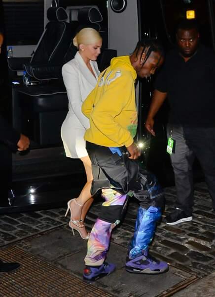 Travis Scott et Kylie Jenner à New York en 2018