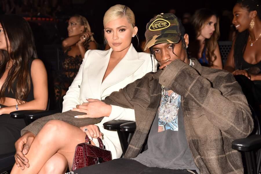 Travis Scott et Kylie Jenner lors des MTV Video Music Awards 2018