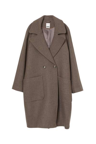 Manteau en laine mélangée, H&M Conscious, 99€