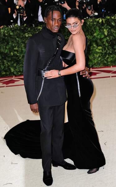 Travis Scott et Kylie Jenner lors MET Gala en 2018