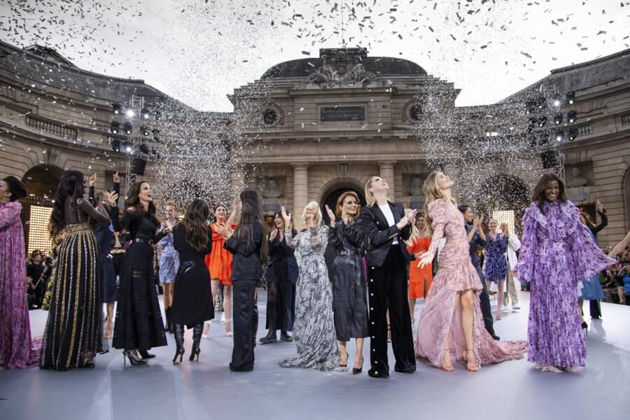 Les stars réunies lors du défilé L'Oréal Paris