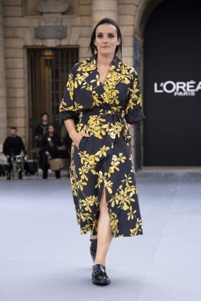 Marie Bochet lors du défilé L'Oréal Paris