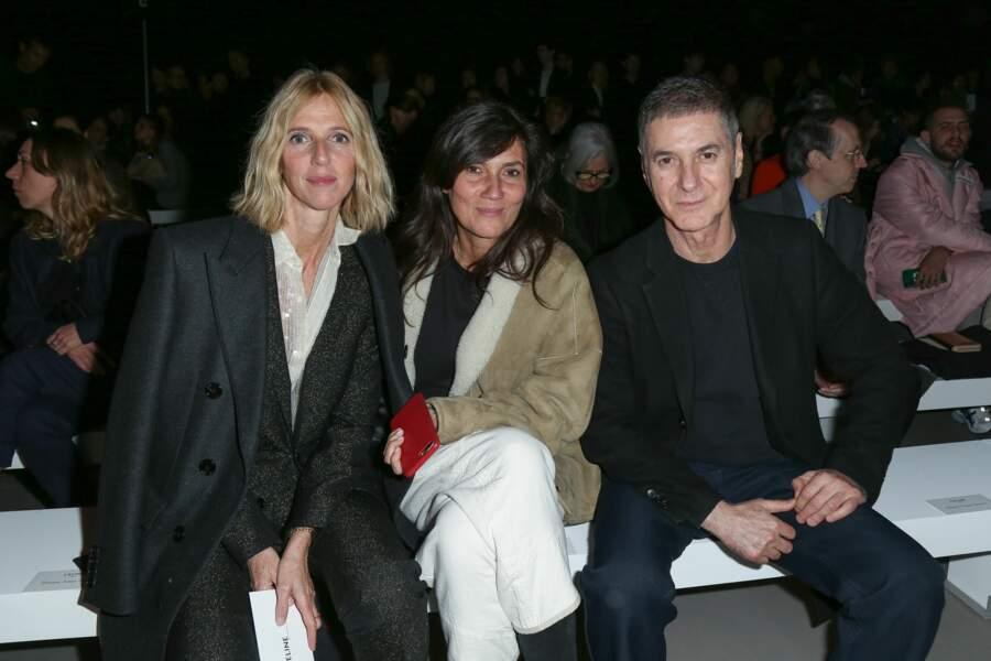 Sandrine Kiberlain, Emmanuelle Alt et Etienne Daho au défilé Prêt-à-Porter Céline à Paris