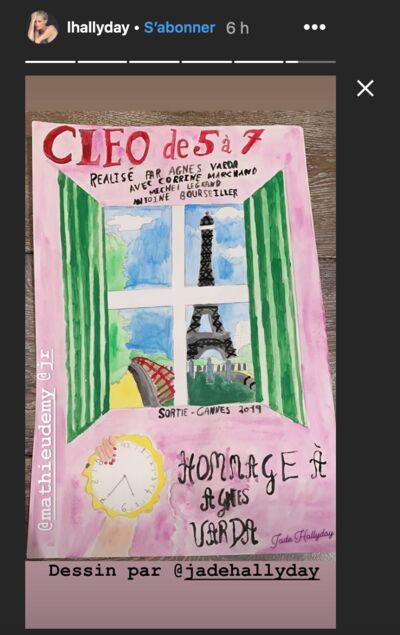 PHOTO Laeticia Hallyday dévoile les talents de dessinatrice de Jade avec un bel hommage à Agnès Varda