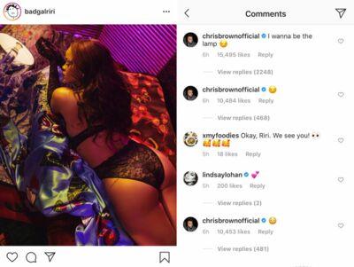 PHOTO Rihanna sexy en lingerie, Chris Brown fait des sous-entendus déplacés