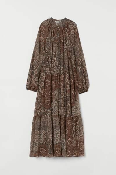 Robe longue en mousseline, H&M, 49,99€