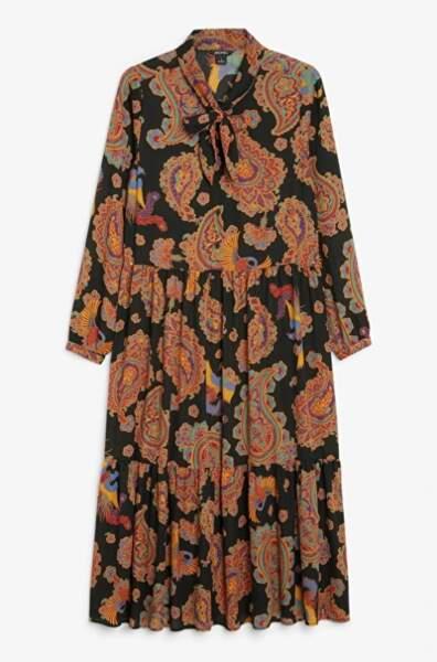 Longue robe à motif, Monki, 40€