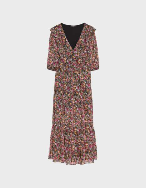 Robe longue fleurie, Bershka, 45,99€