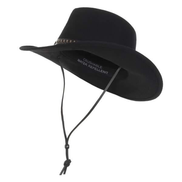 Rodéo. Chapeau, 210 €, Woolrich.
