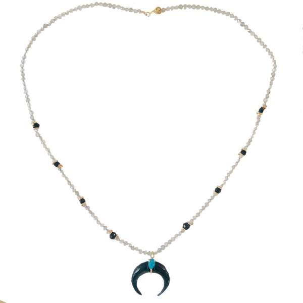 Talisman. Collier Moon turquoise, 89 €, Nynybird.
