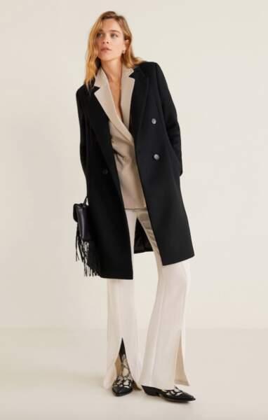 Manteau en laine structuré, Mango, 79,99€