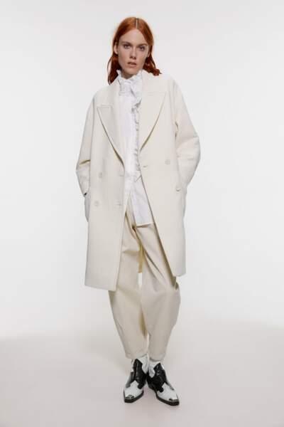 Manteau caban oversize, Zara, 79,95€