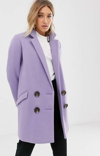 Manteau croisé, Asos Design, 82,99€