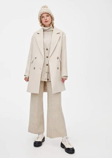 Manteau quatre boutons, Pull&Bear, 45,99€