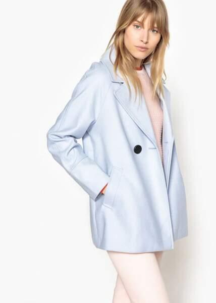 Manteau court esprit caban, La Redoute Collection, actuellement à 17,50€