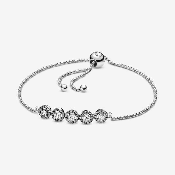 Bracelet Coulissant Sphères Scintillantes, Pandora, 99€