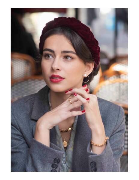 Couronne tressée Norah, Indira de Paris, 45€