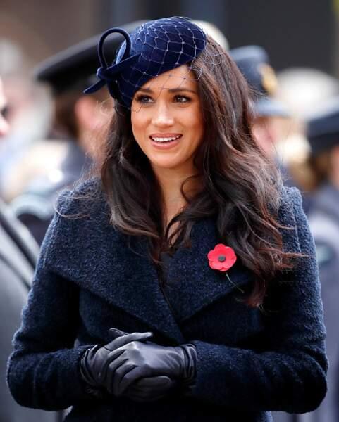 Son petit bibi pour la cérémonie à l'Abbey de Westminster en novembre