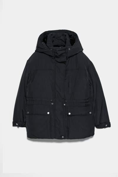 Veste façon doudoune, Zara, 47,97€