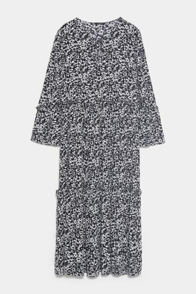 Robe mi-longue imprimée, Zara, 29,97€