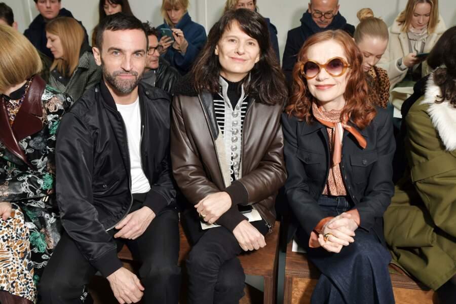 Fashion Week - Isabelle Huppert et Nicolas Ghesquiere au premier rang du défilé Chloé automne-hiver 2020/2021