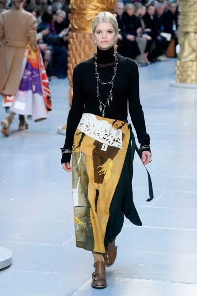 Fashion Week - Pixie Geldof défile pour la collection automne-hiver 2020/2021 Chloé