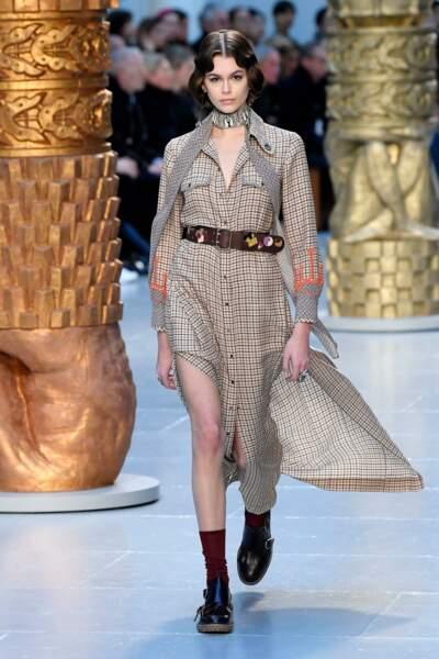 Fashion Week - Kaia Gerber défile pour la collection automne-hiver 2020/2021 Chloé