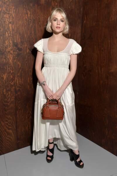 Fashion Week - Lucy Boynton au défilé Chloé automne-hiver 2020/2021