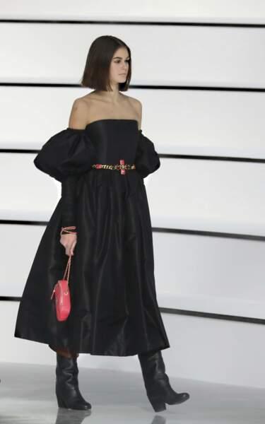 Fashion Week - Kaia Gerber défile pour la collection automne-hiver 2020/2021 de Chanel