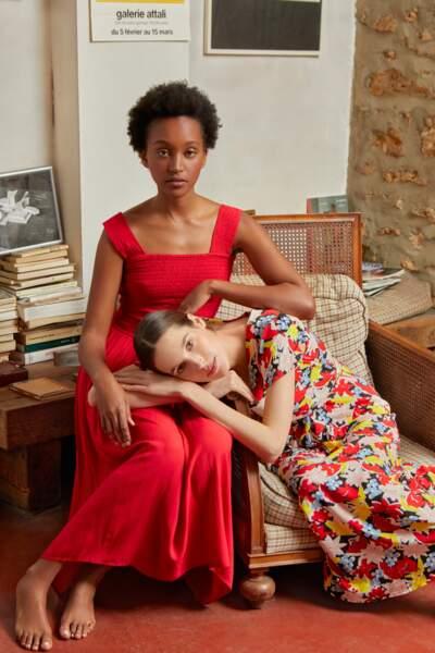 Tendance profusion de motifs :  Robes Monoprix, 39,99€ et 49,99€.
