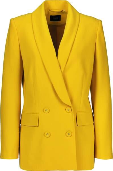 Blazer jaune, C&A, actuellement à 23,95€ au lieu de 49,90€
