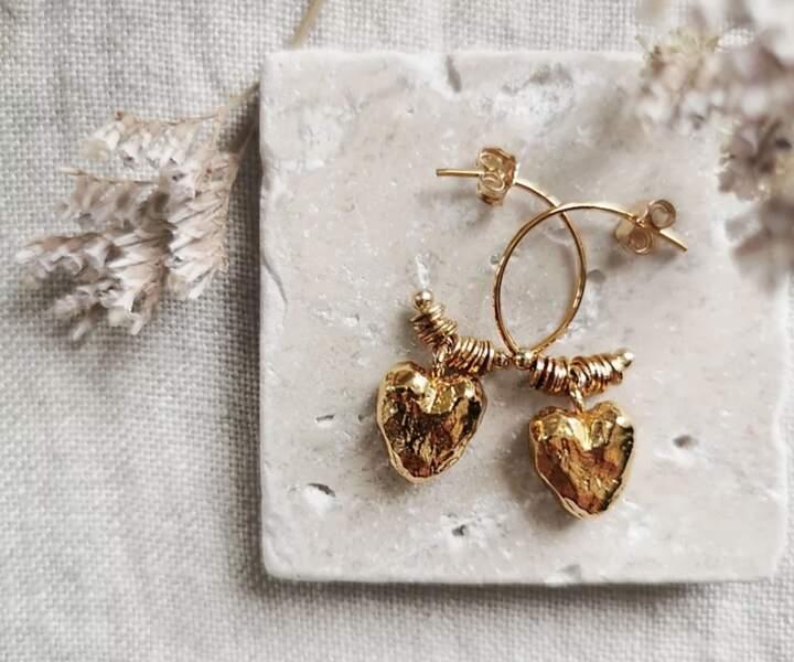Boucles d'oreilles Lyha, Elise Tsikis, 115€
