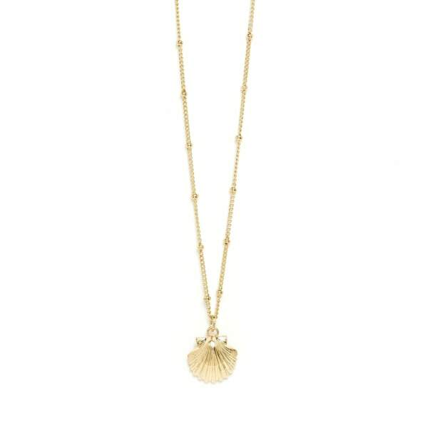 Collier Nérée Or Coquillage, Monsieur Simone, 69€
