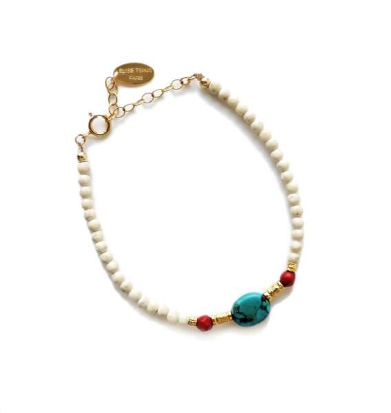 Bracelet KOS en perles d'agate, Elise Tsikis, 85€