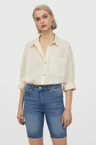 Short en jean façon bermuda, H&M, 19,99€