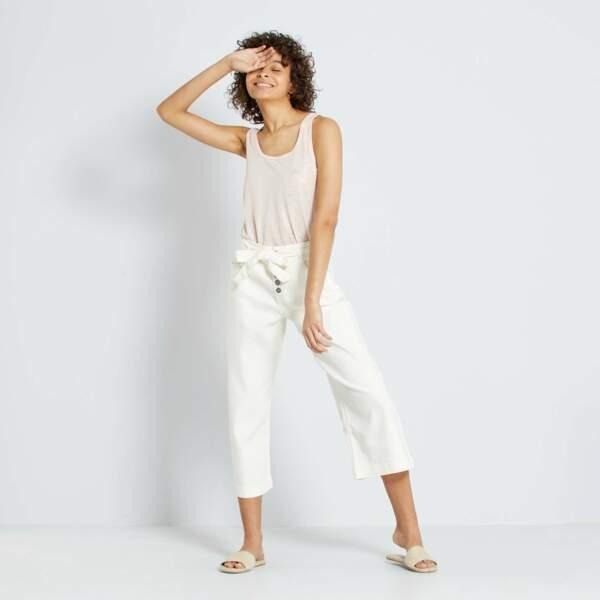 Jupe culotte taille haute, Kiabi, actuellement à 12,60€