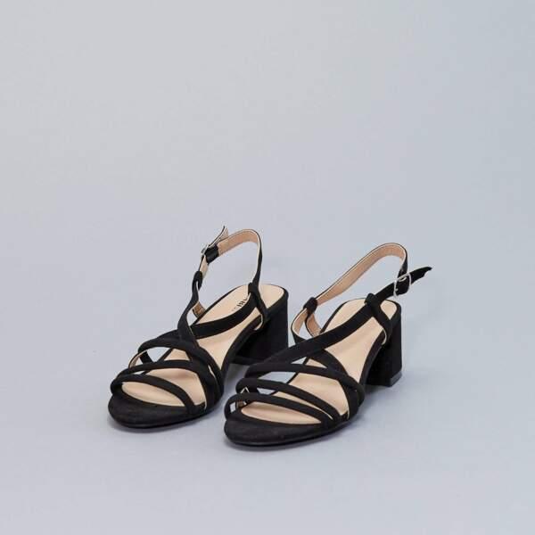 Sandales à talons, Kiabi, actuellement à 10,80€