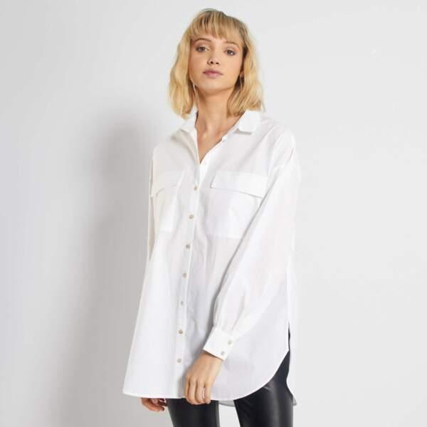 Chemise blanche pur coton, Kiabi, actuellement à 10,50€