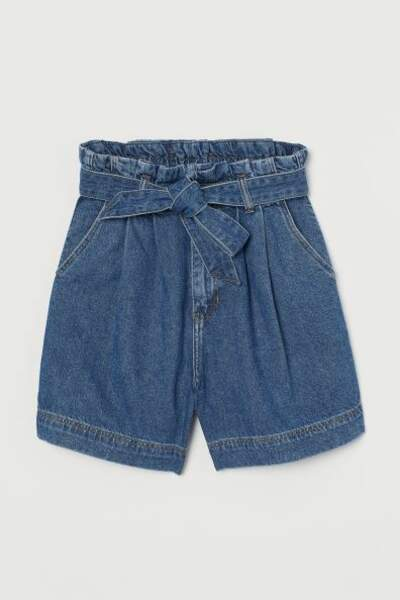 Short paper bag en denim, H&M, 17,99€